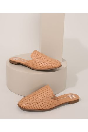Moleca Mulher Sapato Mule - Mule Feminino Texturizado