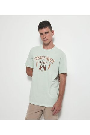 Marfinno Camiseta Comfort Manga Curta com Estampa Cerveja       EG I
