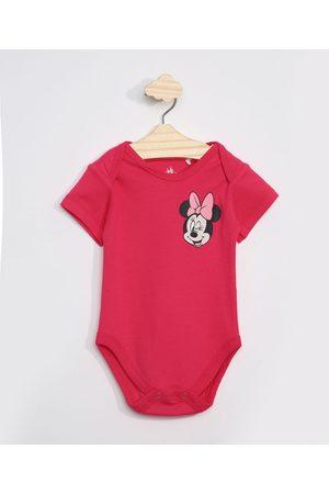 Disney Body Infantil Manga Curta Minnie Pink