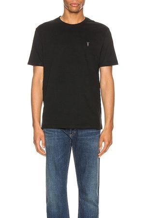 AllSaints Brace Tonic Crew Tee in Black. - size L (also in M, S, XL, XS)