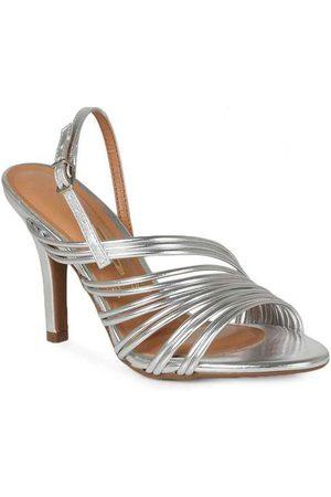 VIZZANO Sandália Salto Feminina Tiras Metalizadas