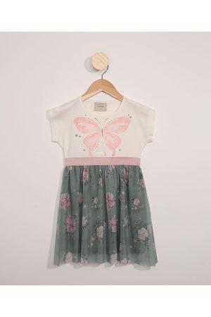 PALOMINO Menina Vestidos - Vestido de Tule Infantil Manga Curta Borboleta