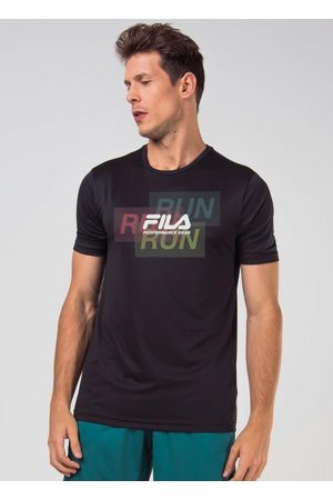 Fila Homem Camisolas de Manga Curta - Camiseta Run Print Preta