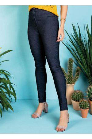 Janine Calça Jeans Skinny com Bolsos Traseiros