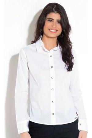 QUINTESS Mulher Camisa Casual - Camisa Clássica Branca