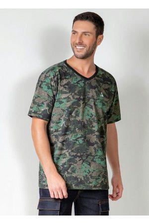 Actual Camiseta Camuflada com Mangas Curtas