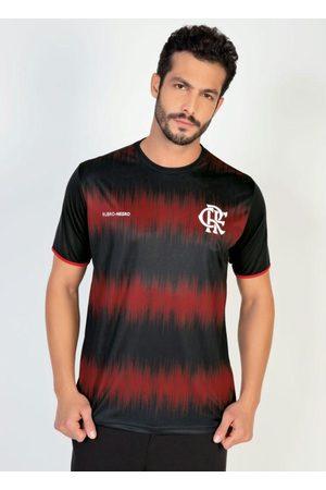 Braziline Homem Camisolas de Manga Curta - Camiseta Flamengo Part Preta