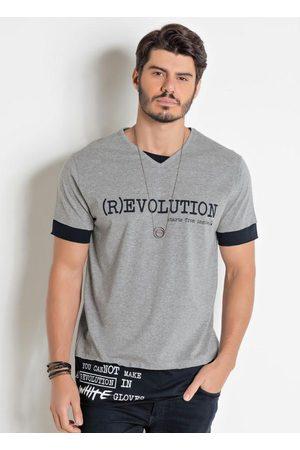 Actual Homem Camisolas de Manga Curta - Camiseta e Preta com Escritas