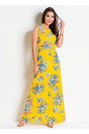 ROSALIE Vestido Moda Evangélica Floral com Fundo