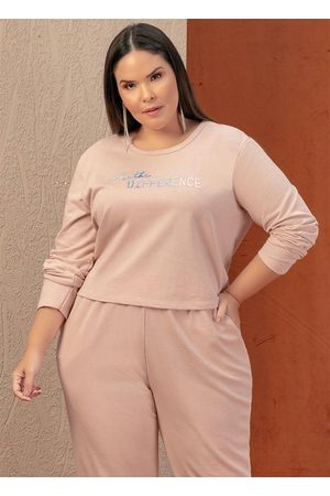 Marguerite Casaco Rosê com Estampa Furta Cor Plus Size