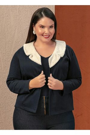Marguerite Casaco com Pelo Sintético Plus Size
