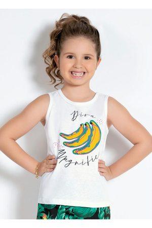 Alma Dolce Menina Pijamas - Regata de Pijama Infantil Branca