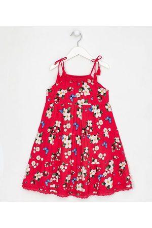 Fuzarka (5 a 14 anos) Vestido Infantil Fit Alças Estampa Floral - Tam 5 a 14 anos | | | 5-6