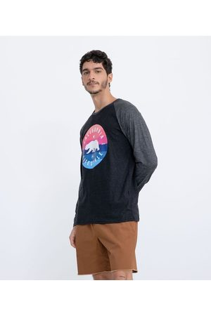 Ripping Homem Manga Curta - Camiseta Manga Longa Raglan Estampa Urso Califórnia | | | P