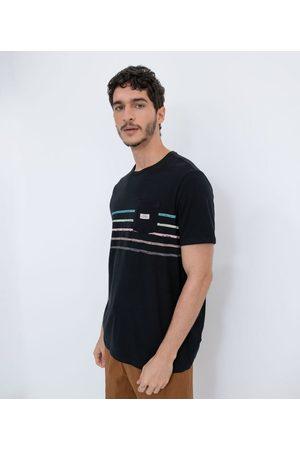 Ripping Homem Camisa Manga Curta - Camisa Manga Curta em Algodão com Listras Localizadas Irregulares | | | PP