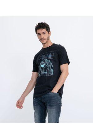 Blue Steel Homem Manga Curta - Camiseta Manga Curta com Estampa Batman Brilha no Escuro | | | P