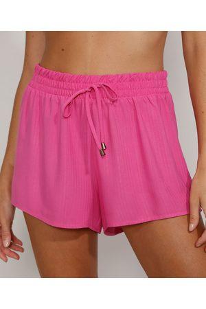 adidas Short Saída de Praia Feminino Maquinetado com Cordão Pink