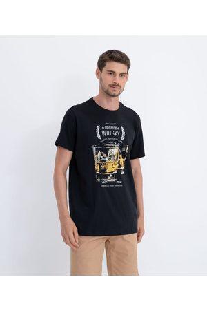 adidas Homem Manga Curta - Camiseta Manga Curta em Algodão Estampa Whisky       P