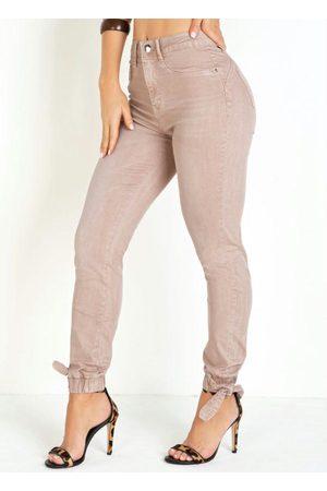 Sawary Jeans Mulher Calça de Alfataria - Calça Jogger com Amarração Sawary
