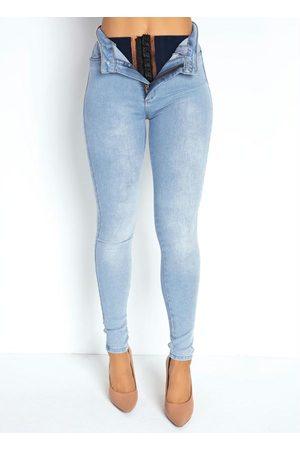 Sawary Jeans Mulher Calça Legging - Calça Jeans Clara Super Lipo Legging Sawary