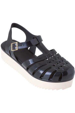 adidas Sandália Preta com Solado Plataforma