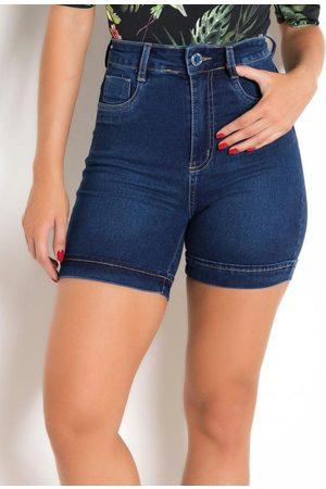 Sawary Jeans Short Super Lipo com Barra Dobrada