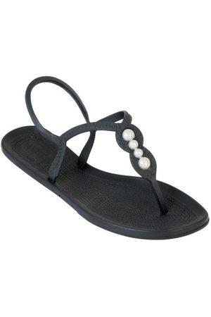 adidas Mulher Sandálias - Rasteirinha Preta com Adereço