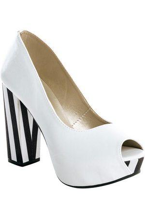 adidas Sapato Peep Toe Listrado, e Preto
