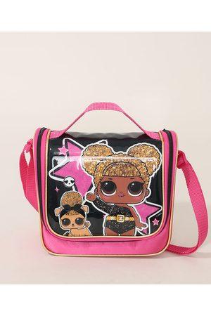 LOL Surprise Menina Mochila - Lancheira Infantil Transversal Pink