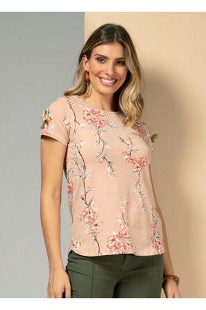 QUINTESS Blusa com Detalhe para Amarrar Floral