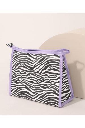 C&A Nécessaire Feminina Estampada Animal Print Zebra Multicor