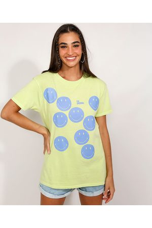 Smiley Camiseta Feminina Manga Curta