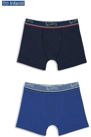 LUPO Menino Cueca Boxer - Kit/2 Cueca Lupinho Boxer 141-088 Infantil 0950-Ma