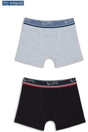 LUPO Menino Cueca Boxer - Kit/2 Cueca Lupinho Boxer 141-088 Infantil 0940-Ci