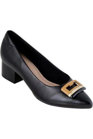 MODARE Sapato Preta com Detalhe Dourado