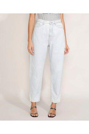 Mindse7 Calça Jeans Feminina Mindset Slouchy Cintura Super Alta Claro