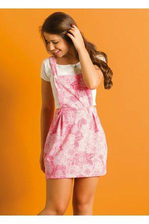 Moda Pop Conjunto Juvenil Bege e Floral