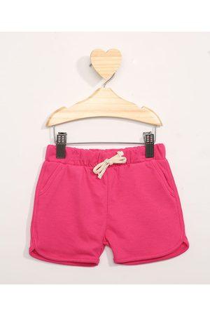 BABY CLUB Short de Moletom Infantil Running Pink