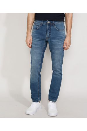 Clockhouse Calça Jeans Masculina Skinny em Moletom Médio
