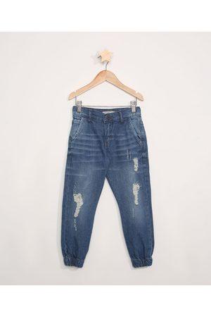 PALOMINO Calça Jeans Infantil Jogger Destroyed Escuro