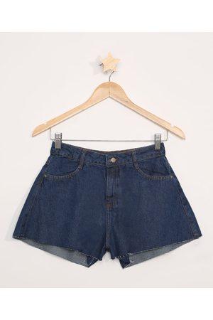 Miss Fifteen Menina Bermuda - Short Jeans Juvenil Godê Escuro