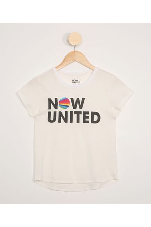 Now United Blusa Juvenil Manga Curta Off White