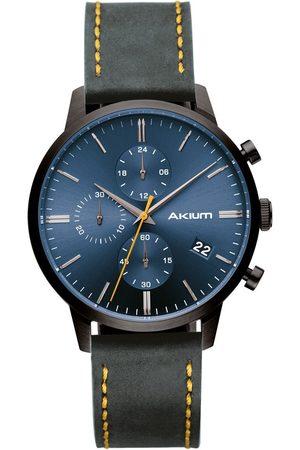 Vivara Homem Relógios - Relógio Akium Masculino Couro Cinza - 03K09ML01B