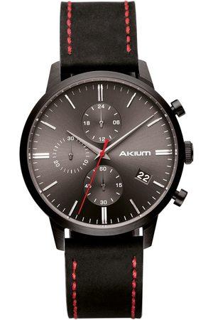 Vivara Homem Relógios - Relógio Akium Masculino Couro Preto - 03K09ML01C