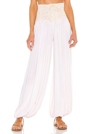 Jen's Pirate Booty Venice Corset Genie Pants in Nude. - size L (also in M, S, XS)