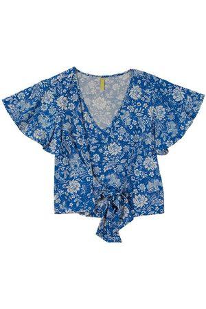 Cativa Mulher Manga Curta - Blusa com Estampa Floral e Amarração