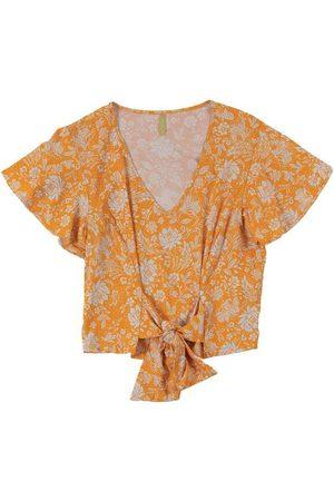 Cativa Blusa com Estampa Floral e Amarração