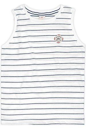Marisol Menino Manga Curta - Camiseta Regata Branca Menino