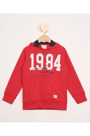 """PALOMINO Blusa de Moletom Infantil 1984"""" com Canguru Vermelha"""""""
