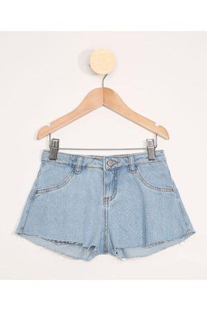 PALOMINO Short Jeans Infantil Godê Barra a Fio Claro